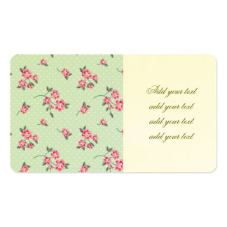 mint,polka dot,roses,shabby chic,pattern,girly,tre pack of standard business cards