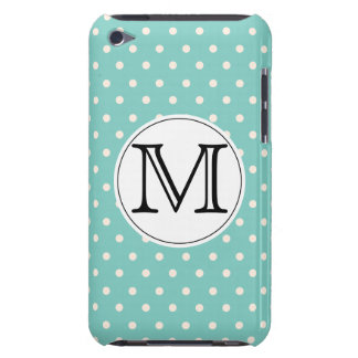 Mint Polkadots Barely There iPod Covers