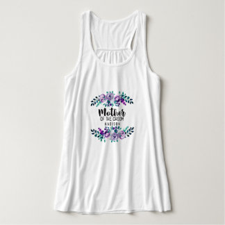 Mint & Purple Floral Wreath Mother of the Groom Tank Top