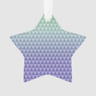 Mint Purple Triangles Ornament