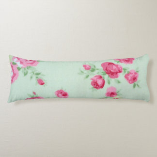 "Mint Rose Shabby Chic Body Pillow 20"" x 54"""