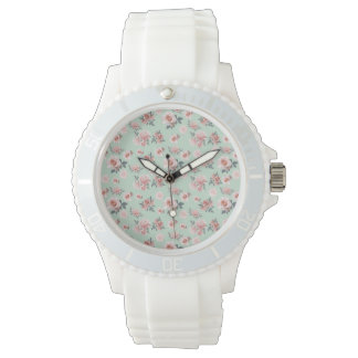 Mint Roses Watch