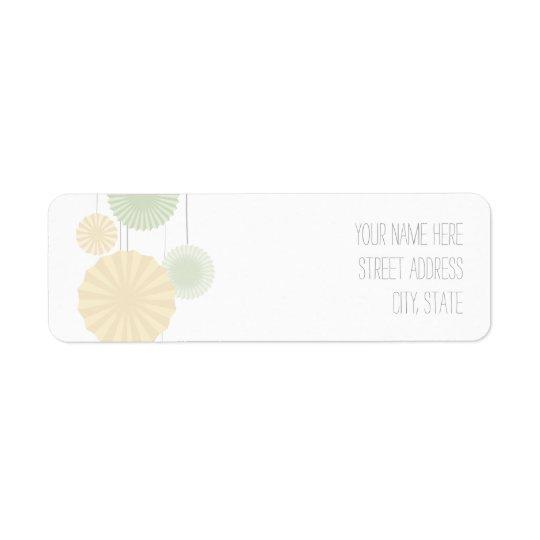 Mint Rosettes Address Label