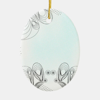 Mint rustic vintage background with halftones ceramic ornament