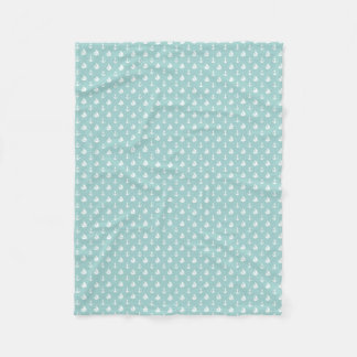 Mint Sailboats and Anchors Pattern Fleece Blanket