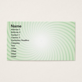 Mint Spiral Business Card
