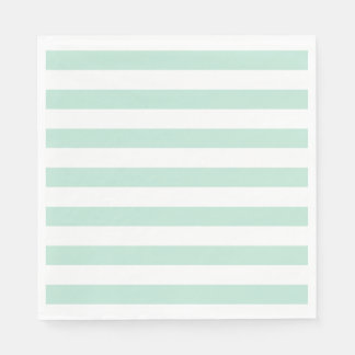 Mint stripe disposable napkin