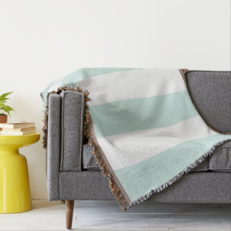 Mint Striped Throw