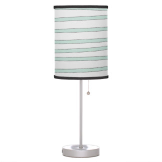 Mint Stripes Pastel Green Rustic Sketch Stripe Table Lamp