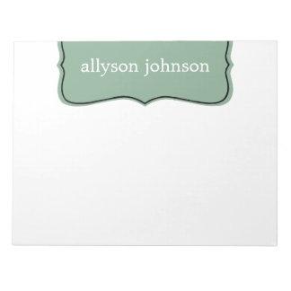 Mint Stylish Design Note Pad