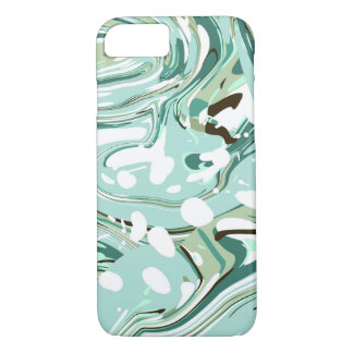 Mint Teal Abstract Swirl iPhone 7 Case