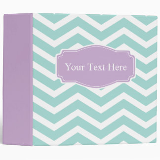 Mint Teal Purple Chevron Custom Binders