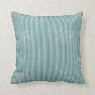 Mint texture with white butterflies throw pillow