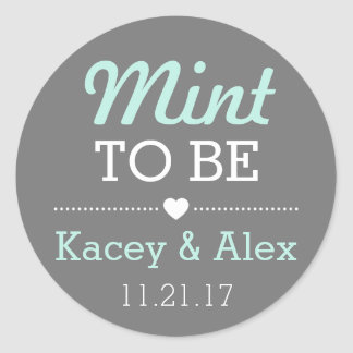 Mint To Be Stickers Wedding Favours