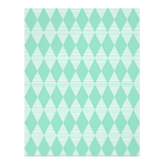 Mint Triangle - Diamond pattern with white stripes Letterhead Template