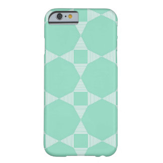 Mint Triangle - Star geometric pattern Barely There iPhone 6 Case