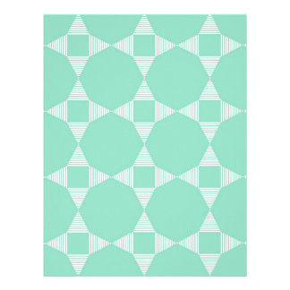 Mint Triangle - Star pattern with white stripes Letterhead Template