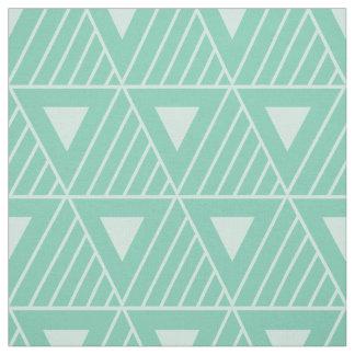 Mint Triangles Modern Pattern Custom Background Fabric