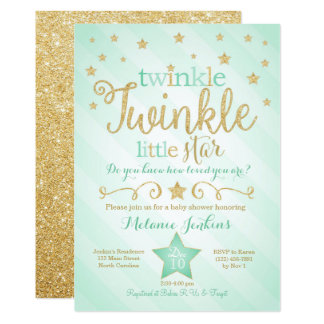 Twinkle Little Star Invitations Announcements Zazzle Canada