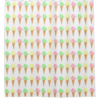 Mint Vanilla Strawberry Ice Cream Cones Pattern