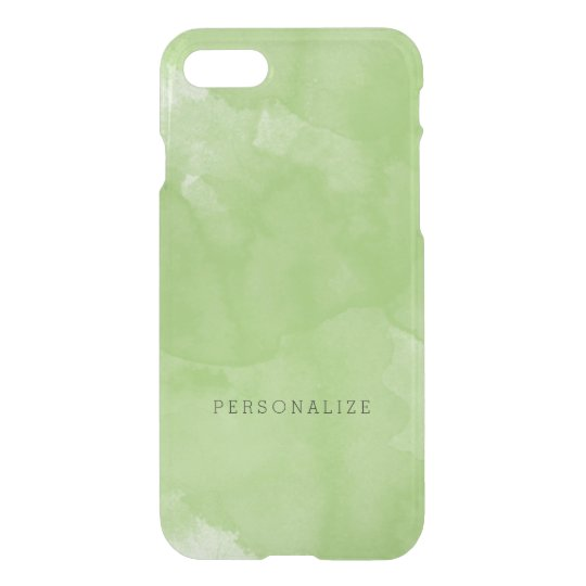 Mint Watercolor iPhone 7 Case