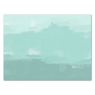 Mint Watercolor Ombre Tissue Paper