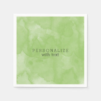Mint Watercolor Paper Napkin