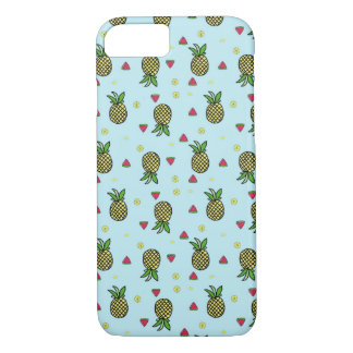 Mint Watermelon & Pineapple Tropical iPhone 7 Case