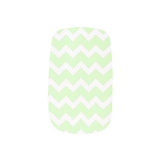 Mint White Chevron Stripes Nail Coverings Minx Nail Art
