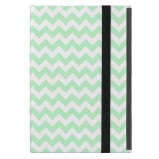 Mint White Chevron Zig-Zag Pattern iPad Mini Cover