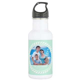 Mint White Color Nautical Picture Frame 532 Ml Water Bottle