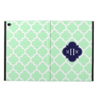 Mint Wht Moroccan #5 Navy Blue 3 Initial Monogram Powis iPad Air 2 Case