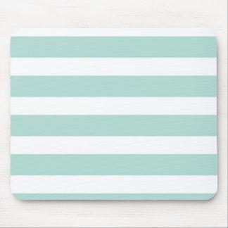 Mint Wide Stripe Mousepad