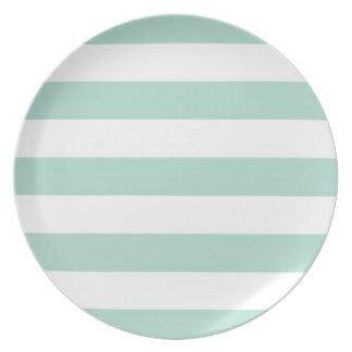 Mint Wide Stripe Plate