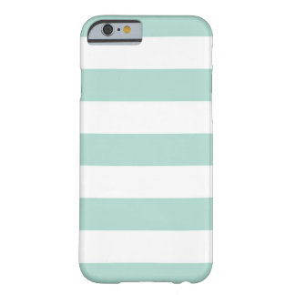 Mint Wide Stripes Barely There iPhone 6 Case