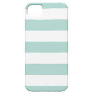 Mint Wide Stripes iPhone 5 Case
