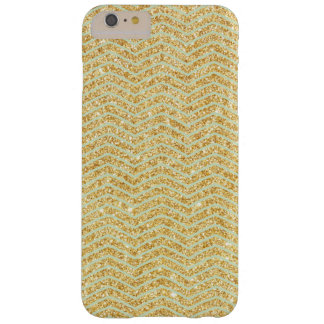 Mint with Gold Glitter Zigzag Chevron Pattern Barely There iPhone 6 Plus Case