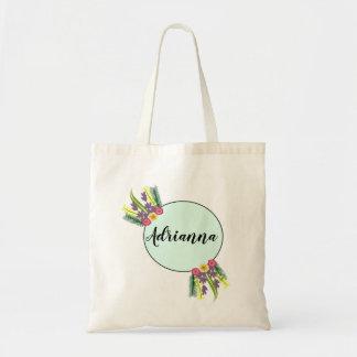 mint wreath bridal bag