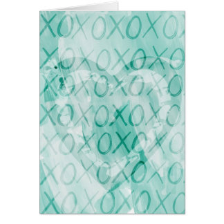 Mint XOXO Card