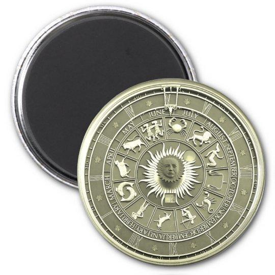 Mint Zodiac Wheel Magnet