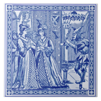Minton Cinderella Series Reproduction Tile c.1880
