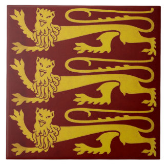 Minton Pugin Gothic Lions Tile 1850s Reproduction