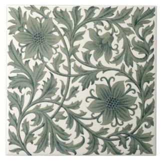Minton Wm Morris Style Repro 1890s Tile on Cream