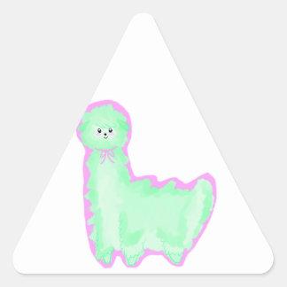 Minty Alpaca Triangle Sticker