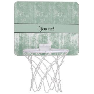 Minty Butterflies Mini Basketball Hoop