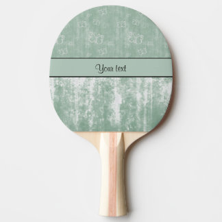Minty Butterflies Ping Pong Paddle