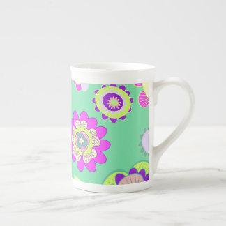 Minty Floral Bone China Mug
