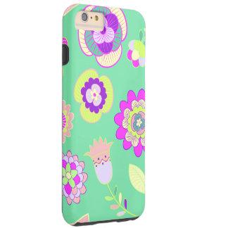 Minty Floral iPhone 6/6s Plus, Tough Phone Case