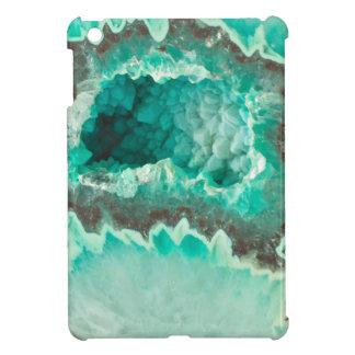 Minty Geode Crystals iPad Mini Covers