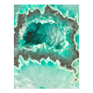 Minty Geode Crystals Letterhead